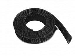 Nylon Geflechtschlauch, 1m x 10mm, schwarz
